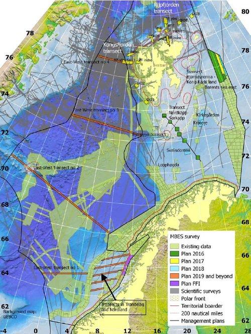 tromsøflaket kart Mareano   Samler kunnskap om havet tromsøflaket kart
